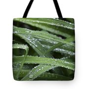 Green With Rain Drops Tote Bag