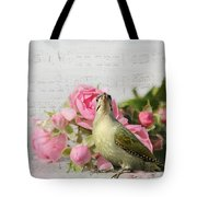 Green Woodpecker Stilllife Tote Bag
