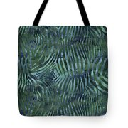 Green Zebra Print Tote Bag