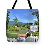 Greenbrier County Historical Marker In Alderson West Virginia Tote Bag