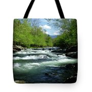 Greenbrier River Scene Tote Bag