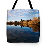 Greenlake Fall Reflections Tote Bag