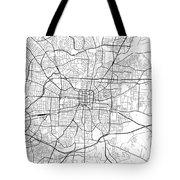 Greensboro North Carolina Usa Light Map Tote Bag