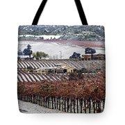 Greenville Vineyard In Snow Tote Bag
