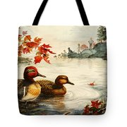 Greenwinged Teal Ducks Tote Bag