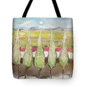 Greeting The Early Moon Tote Bag