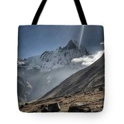 Greeting To Mountain By Sun Tote Bag