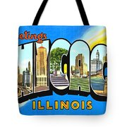 Greetings From Chicago Illinois Tote Bag