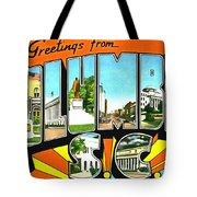 Greetings From Columbia South Carolina Tote Bag