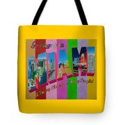 Greetings From Miami Tote Bag