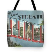 Greetings From Streater Illinois Tote Bag