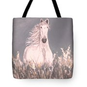 Grey And White Tote Bag