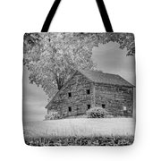 Grey Barn On A Grey Day Tote Bag