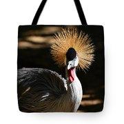Grey Crowned Crane Tote Bag