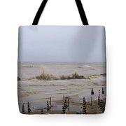 Grey Day At The Beach Tote Bag