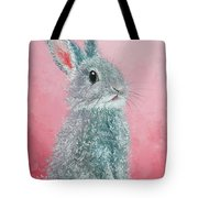 Grey Easter Bunny Tote Bag
