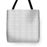 Grey Greek Key Watercolor Pattern Beach Ocean Home Decor Tote Bag