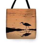 Grey Heron Sunset Tote Bag