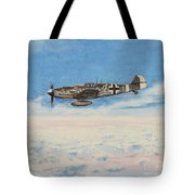 Grey In Blue Tote Bag