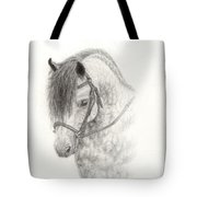 Grey Pony Tote Bag