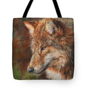 Grey Wolf Face Tote Bag