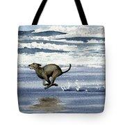 Greyhound At The Beach Tote Bag