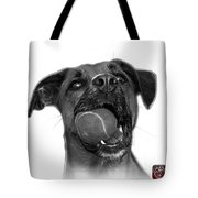 Greyscale Boxer Mix Dog Art - 8173 - Wb Tote Bag