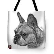 Greyscale French Bulldog Pop Art - 0755 Wb Tote Bag