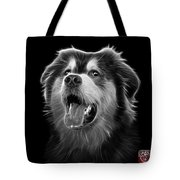 Greyscale Malamute Dog Art - 6536 - Bb Tote Bag