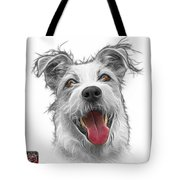 Greyscale Terrier Mix 2989 - Wb Tote Bag