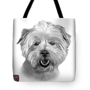 Greyscale West Highland Terrier Mix - 8674 - Wb Tote Bag