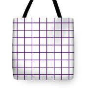 Grid Boxes In White 09-p0171 Tote Bag