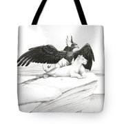 Griffin And Lioness Tote Bag
