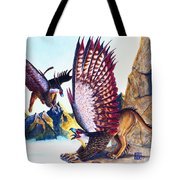 Griffins On Cliff Tote Bag