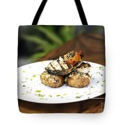 Grilled Fish With Roast Potato Herbs And Garlic Tote Bag