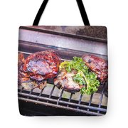 Grilled Meat Tote Bag