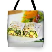Grilled Vegetable And Salad Wrap Tote Bag