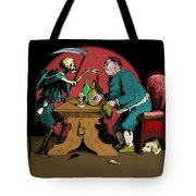 A Grim Visitor Tote Bag
