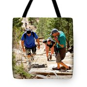 Grinding It Out On The Manitou Incline And Barr Trail Tote Bag
