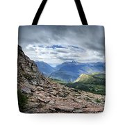 Grinnell Glacier Overlook Panorama - Glacier National Park Tote Bag