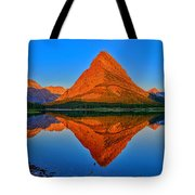 Grinnell Point Alpenglow Panorama Tote Bag