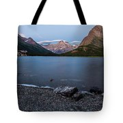 Grinnell Point Over Swiftcurrent Lake Tote Bag
