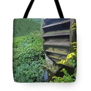 Grist Mill Water Wheel Cape Cod Tote Bag