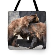 Grizzlies' Playtime 4 Tote Bag