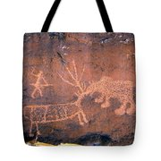 Grizzly Bear Attack Tote Bag