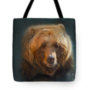 Grizzly Bear Portrait Tote Bag by Betty LaRue