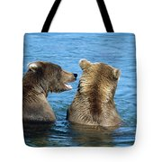 Grizzly Bear Talk Tote Bag