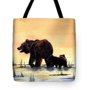 Grizzly Bears Tote Bag