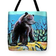 Grizzly Cub Tote Bag