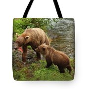 Grizzly Dinner For Two Tote Bag